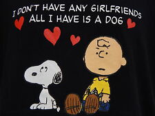 Snoopy Charlie Brown I Dont Have Any Girlfriends All I Have Is A Dog VTG T-shirt