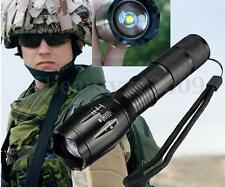 5000LM XM-L T6 LED Zoomable Tactical Flashlight Torch 18650 Cycling Hiking Camp