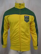 BRAZIL FULL ZIP UP TRACK JACKET SZ S JOGGING, RUNNING, SPORTS, SOCCER VIC-THOR1
