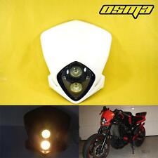 White Headlight Fairing MX Dirt Bike Off Road Dual Sport MotoCross SuperMoto New