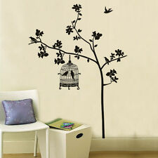 Tree And Bird Cages Wall Stickers Art Decal Vinyl Paper Room Decor