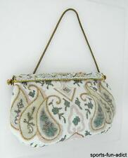 Vintage HAND MADE IN FRANCE Micro Seed Bead Handbag Purse