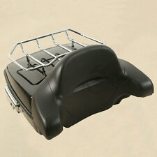 Chopped Tour Pak Pack Trunk W/ Rack Backrest For Harley Electra Road Glide 14-17