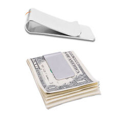 Men Women Practical Stainless Steel Slim Money Clip Credit Card Holder Wallet