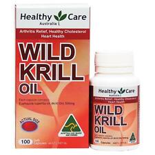 Wild Krill Oil by Healthy Care 500mg 100 Capsules