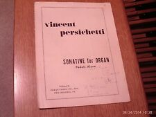 Vincent Persichetti: Sonatine for Organ  Pedals Alone (Elkan-Vogel)
