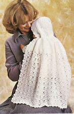 Lovely vintage baby baptême transportant cape crochet pattern
