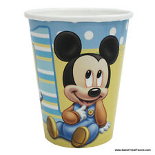 Mickey Mouse Baby CUPS 1st First Birthday Decoration Party Supplies Blue Boy x8