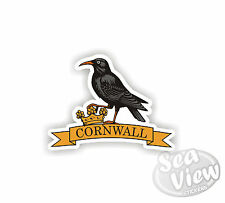 Chough Cornwall Kernow St pirans Yellow Car Van Stickers Decal Funny Sticker