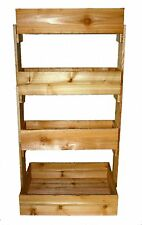 Cedar 4 Tier Vertical Raised Garden Bed Planter ....New