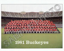 1981 OHIO STATE BUCKEYES FOOTBALL  8X10 TEAM PHOTO