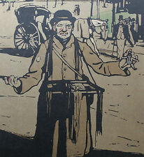 William Nicholson 1898 Types de Londres London Le Camelot Hawker