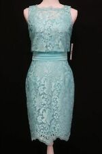 Antonio Melani Morena Embroidered Mesh Dress Wave Size 4 NEW NWT