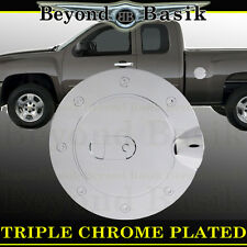 07-13 CHEVY SILVERADO Triple ABS Chrome Fuel Gas Door Cover Cap Overlay Trims