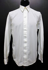 CULT VINTAGE '80 Camicia Uomo Smoking Cotton Tuxedo Man Shirt Sz.M - 48
