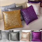 Solid Color Glitter Sequins Throw Pillow Case Home Car Decor Waist Cushion Cover
