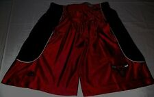 Chicago Bulls Athletic Shorts Youth Large Red Black Embroidered Majestic NBA