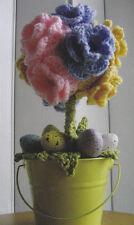 Crochet Pattern ~ EASTER INSPIRED TOPIARY, Flowers ~ Instructions
