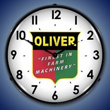 New old fashioned Oliver Finest In Farm Machinery LIGHT UP clock