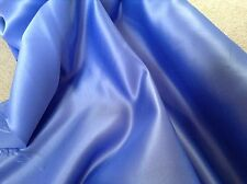 "Cornflower Blue Heavy Matt Duchess Satin Fabric - Polyester - 150cm or 60"" wide"