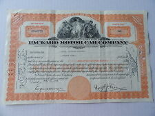 Packard Motor Car Automoblie Stock Certificate 35 Shares 1953