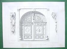 ARCHITECTURE PRINT : Paris Rue de Platre Ornamental Carved Doors