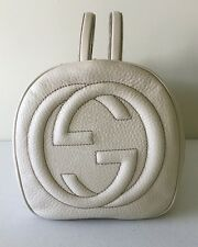 100% Authentic GUCCI 282302 Cream Soft Leather GG Tassel Satchel Bag