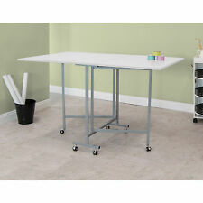 Studio Designs White Powder-coated Craft and Cutting Sewing Machine Table