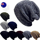 Men Women Unisex Warm Baggy Ski Beanies Skull Wrap Rasta Stripe Knit Hats Cap