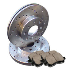 A0976 FIT 1996 1997 1998 1999 2000 Honda Civic EX SI SIR DRILL Brake Rotors Pads