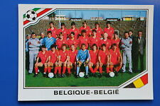 Panini WC MEXICO 86 STICKER N. 129 BELGIE TEAM WITH BACK VERY GOOD/MINT