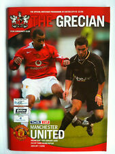 MINT 2004/05 Exeter City v Manchester United FA Cup 3rd Rd Replay