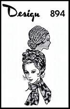 BROOKS DESIGN #894 Millinery TURBAN Hats Fabric Sew Pattern CHEMO Hijab Alopecia