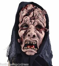Halloween Death Reaper Hooded Torture Mask Ritual Devil Priest Fancy Dress