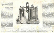 POMPE A PISTONS HERMANN-LACHAPELLE & GLOVER ARTICLE DE PRESSE 1870