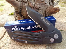 Couteau Smith&Wesson Extrem Ops Tanto Acier 7Cr17Mov Serr Manche Alu SW50BTS