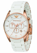 Emporio Armani Sportivo White / Rose Gold Quartz Analog Unisex Watch AR5919