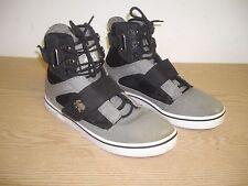 Men's,VLADO, Atlas II, Grey/Black Quilted Canvas Hightop Sneakers Men's Sz 10.5M