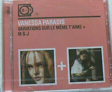 VARIATIONS SUR LE MEME T'AIME + M & J - PARADIS VANESSA (CD x2)  NEUF SCELLE