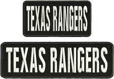Texas Rangers embroidery patches 3x10 and 3x6 hook white