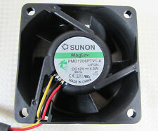 1pc SUNON PMD1206PTV1-A 60x60x25mm 6025 DC Fan 12V 4.3W 5pin Connector 3 wires