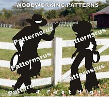 COWBOY  WESTERN WRANGLERS SILHOUETTE woodworking pattern, plan 2 in this set