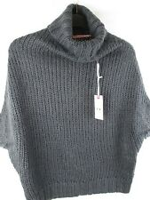 Ladies SH Collection Grey Chunky Sweater Polo Neck - New With Tags - UK Size M
