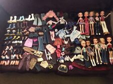 Bratz Doll Lot Accessories Clothes Tops Shorts Pants Shoes 10 Dolls FROM 2001