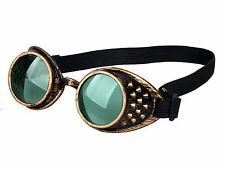 HOT GREEN  WELDING CYBER GOGGLES GOTH STEAMPUNK COSPLAY GOTH ANTIQUE VICTORIAN