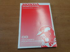 OEM Honda 2000 TRX400EX Fourtrax 400EX Owners Manual 31HN1610