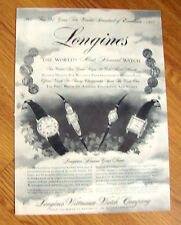 1957  Longines Wittnauer Watch Ad   94 Years Excellence