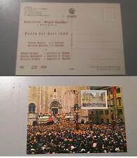 GUBBIO festa dei Ceri Cartolina numerata con timbro speciale poste 15/5/1989