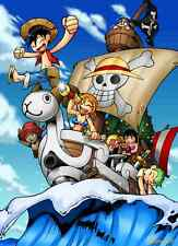 POSTER ONE PIECE GOING MERRY CIURMA RUFY ZORO BROOK NAMI WANTED MANGA ANIME #4