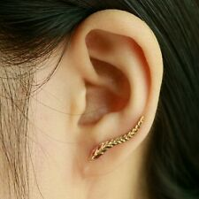 2016 new 18K gold plated earrings beautiful leaf modern Feather Stud earrings